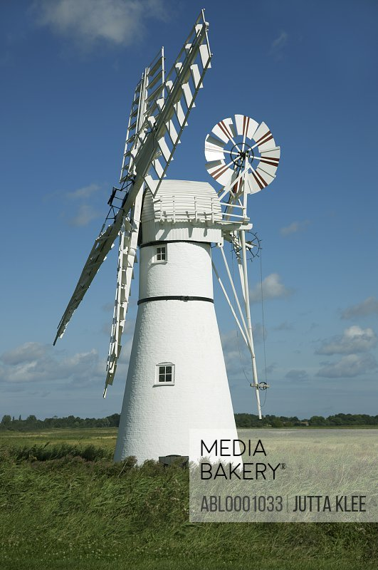 Windmill and blue sky