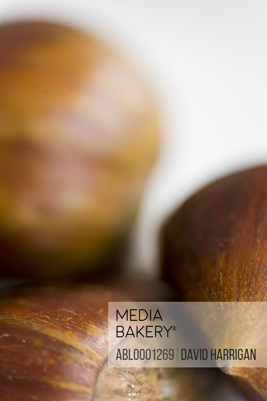 Close up of shelled chestnuts