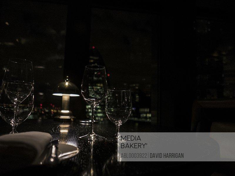 Restaurant Table at Night