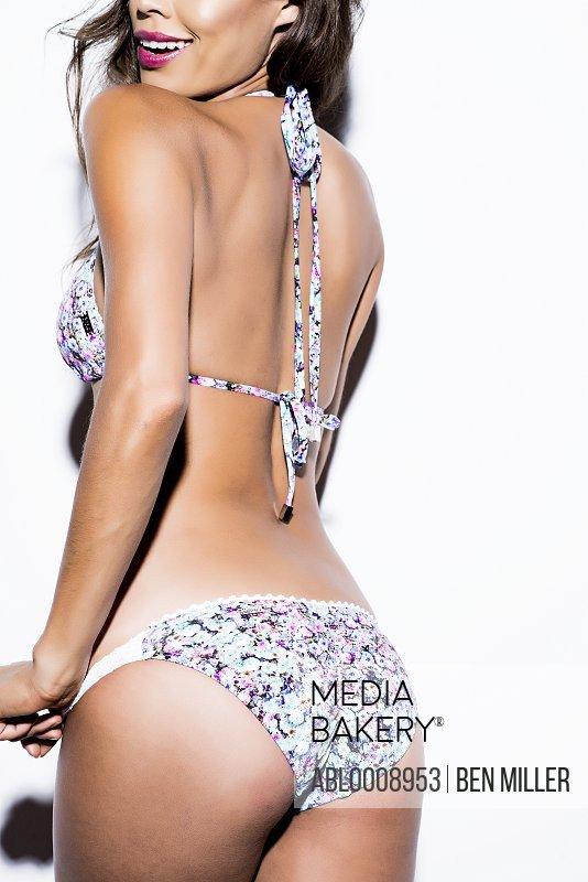 Back View of Woman Wearing Bikini