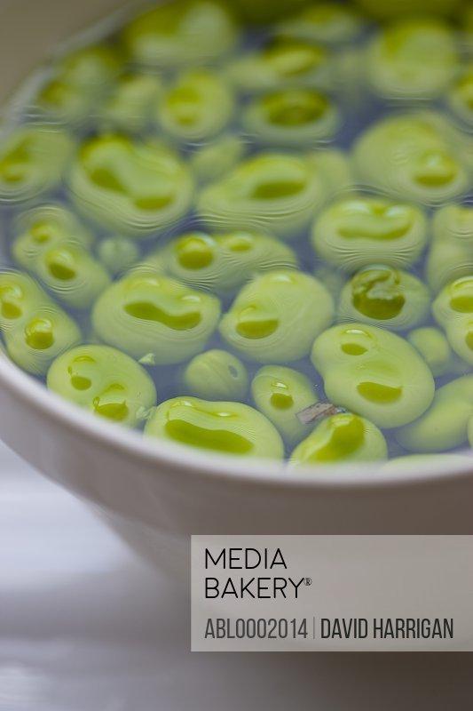 Broad Beans in Bowl Full of Water