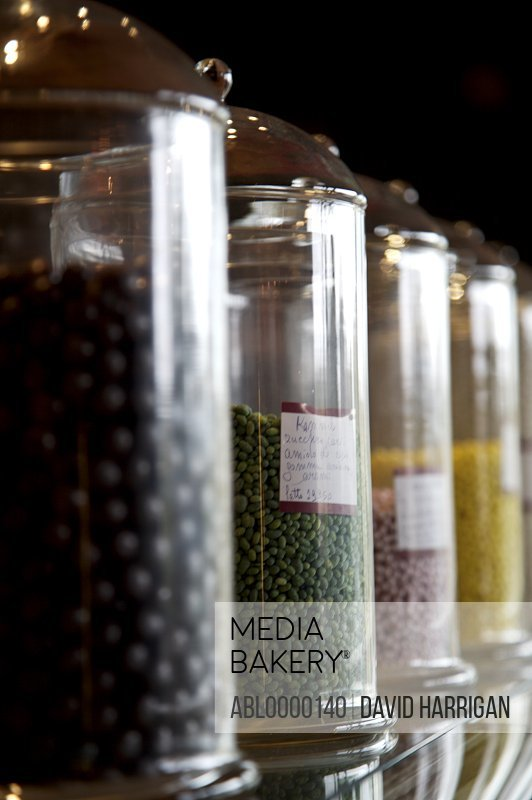 Glass jars with candy