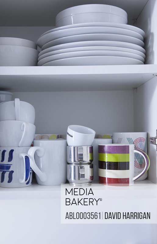 Cupboard with Plates and Cups
