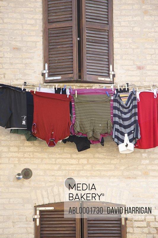 Clothes line under a window