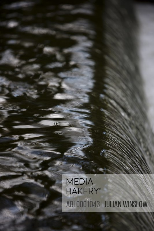Close up of a river cascade