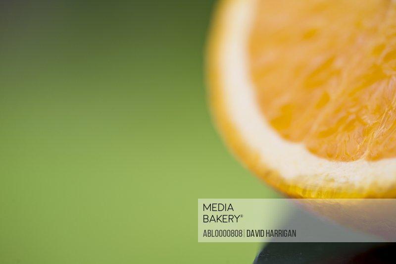 Detail of half of an orange