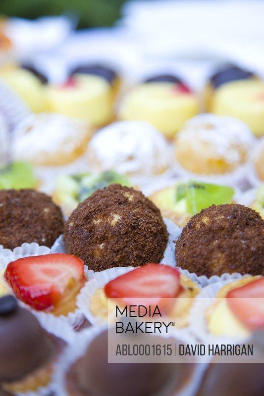 Close up of assorted mini cakes