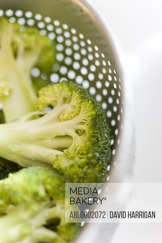 Broccoli Florets in a Colander