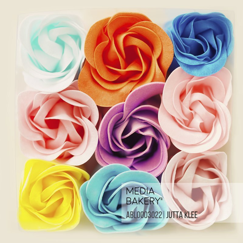 Decorative Felt Roses in Assorted Colours