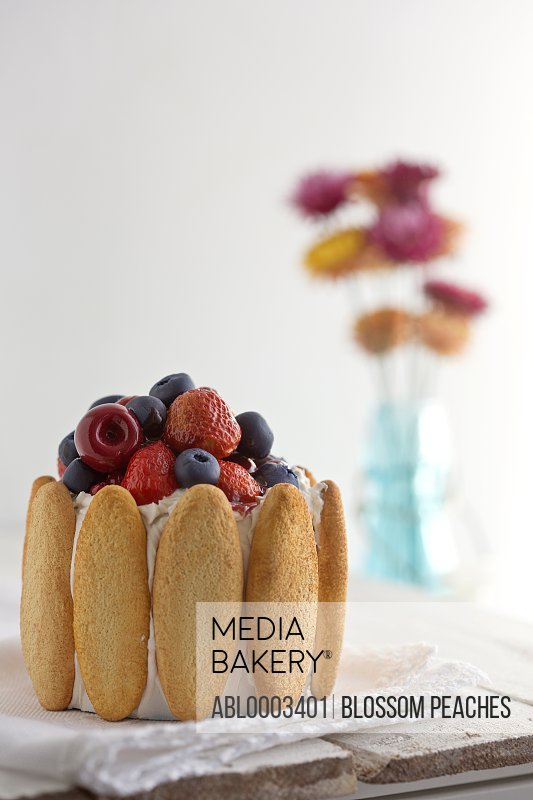 Fresh Berries and Biscuit Cake