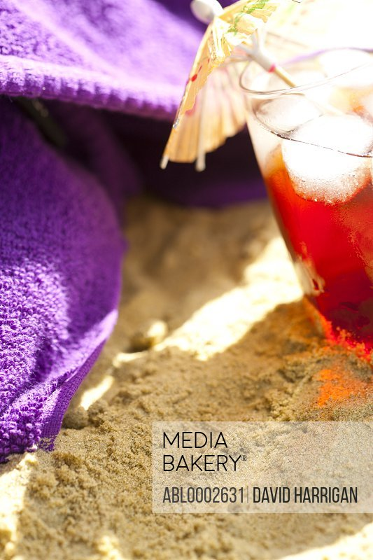 Cocktail on Beach, Close up view