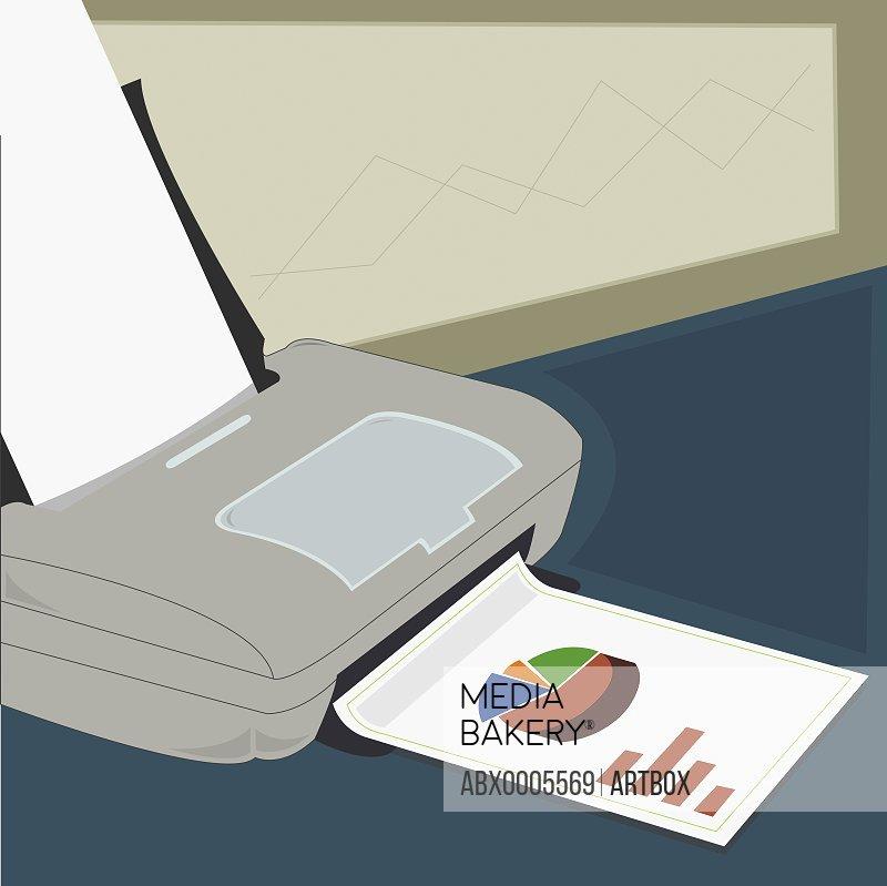 Close-up of a fax machine