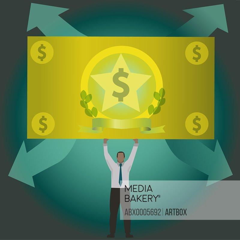 Man holding a dollar