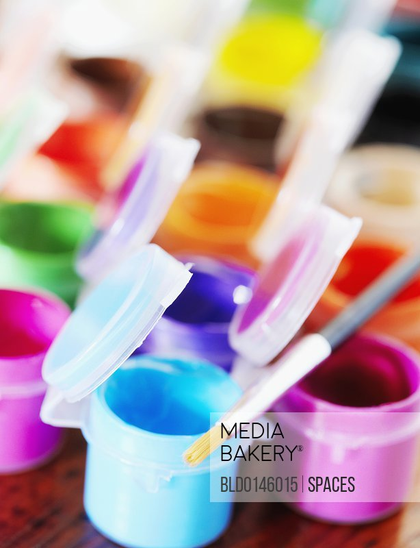 Poster Paints and Paintbrush