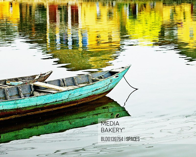 Small Wooden Boats on the Water