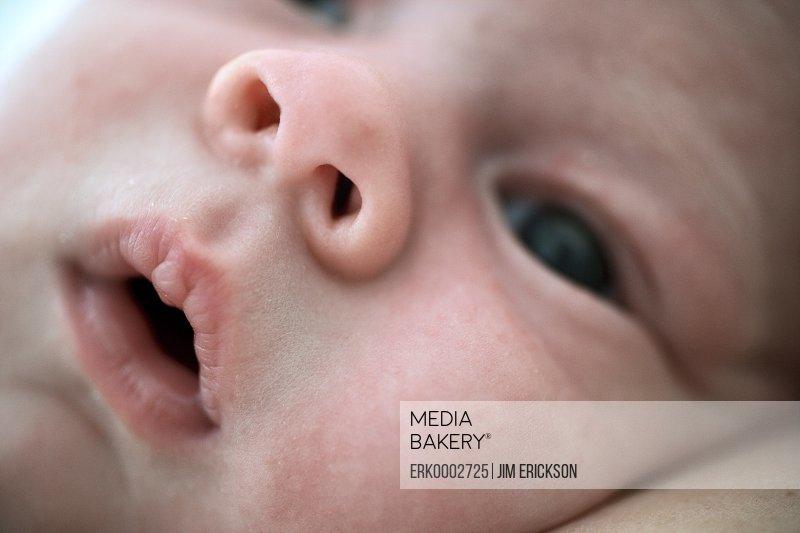 Close-up of a newborn baby.