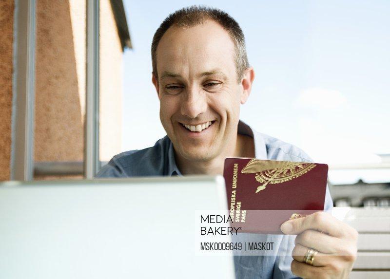 Man with passport