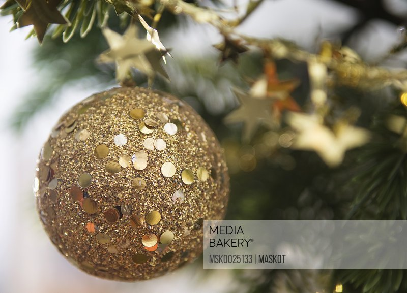 Christmas ball in gold