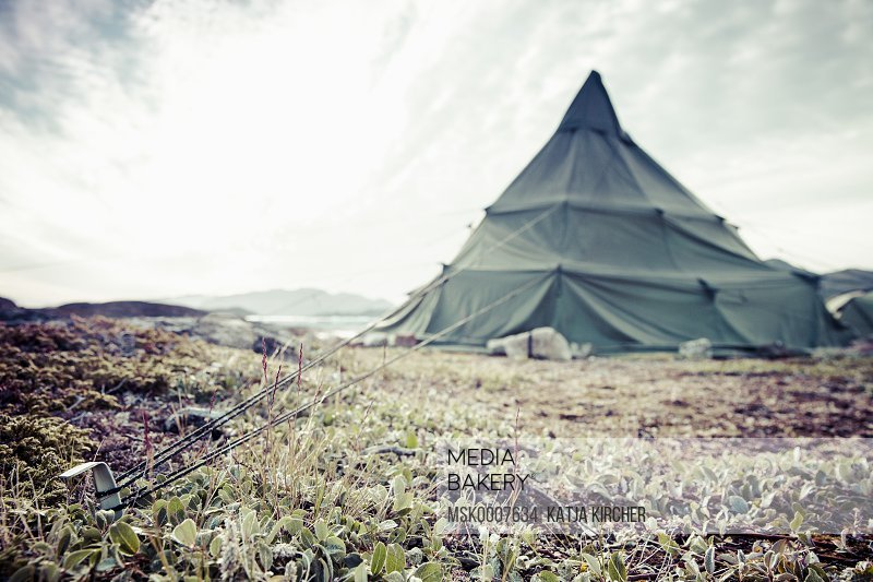 View of camping tent