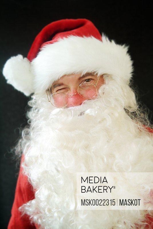 Santa with a big beard
