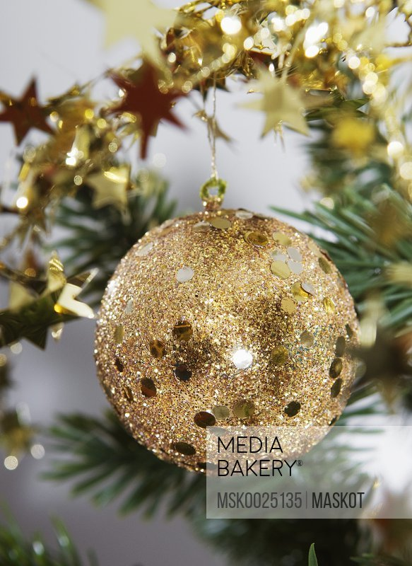 Christmas decoration in gold