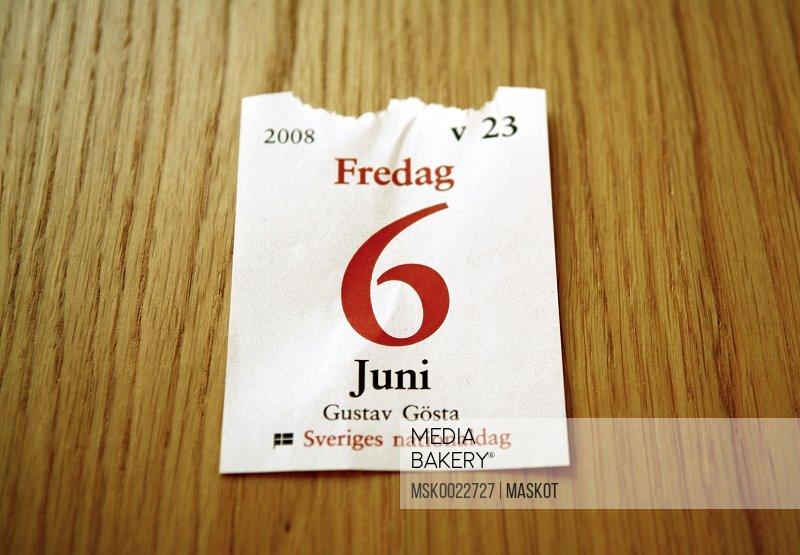 Torned calendar