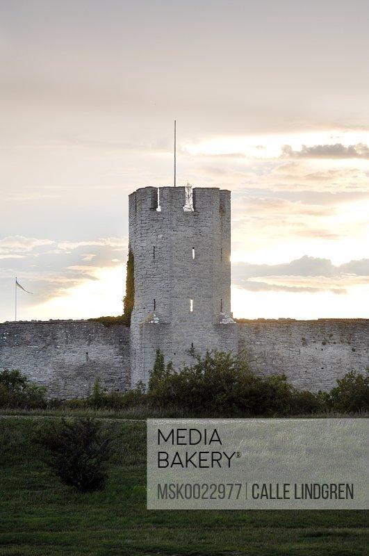 Old castle at dusk