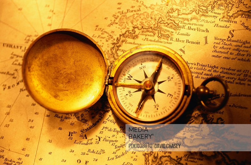 Compass on a Nautical Chart